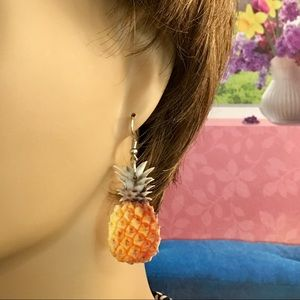 Jewelry - Pineapple Acrylic Earrings.